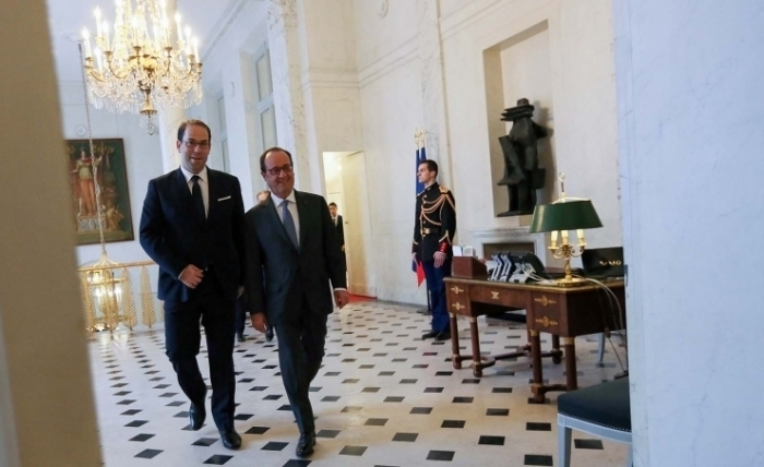 Hollande à Chahed : « La France est là! » (Les Photos de l'Elysée)