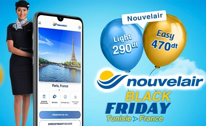 Nouvelair lance une promo à l'occasion du black Friday sur sa nouvelle application mobile
